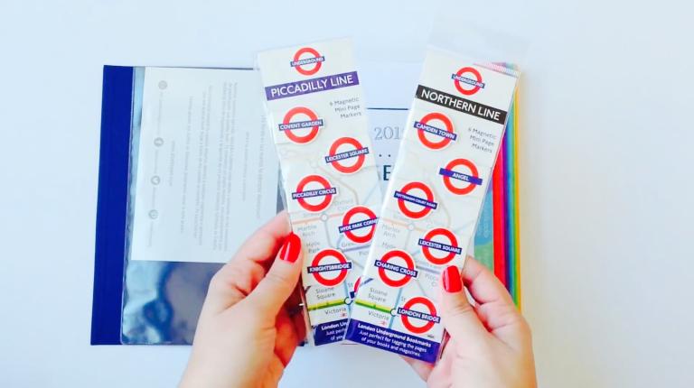 Marcapáginas metro de Londres