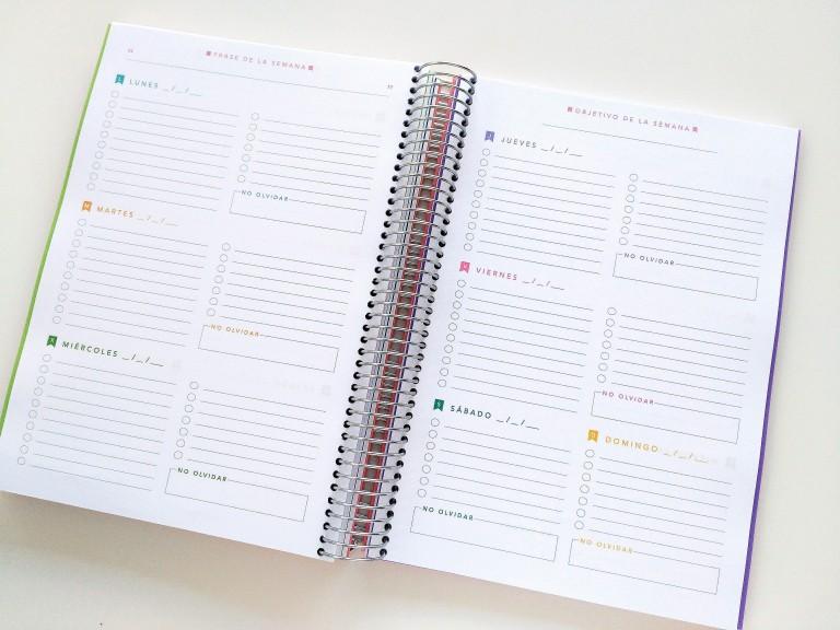 5. ORGANIZA LA SEMANA DE ESTUDIO. Coloca los días en el planificador semanal y distribuye las tareas que has asignado para cada día. Como ahora ya tendrás todas las tareas de todas las entregas, exámenes y exposiciones de todas las asignaturas que estás estudiando, tendrás más de una tarea por día.