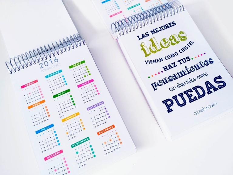 calendario y frase